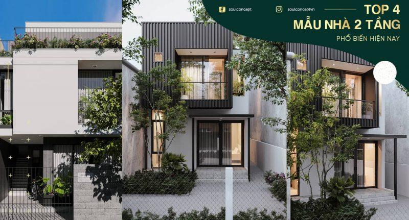 Top 4 mẫu nhà 2 tầng 8x10m phổ biến nhất hiện nay