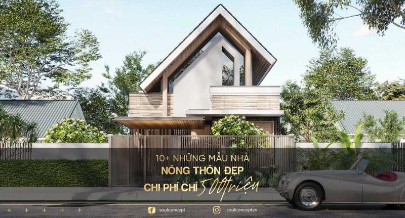 10+ Những mẫu nhà 2 tầng nông thôn đẹp chi phí chỉ 500 triệu