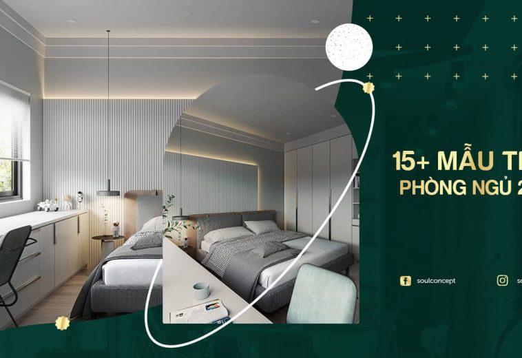 Gợi ý thiết kế nội thất phòng ngủ 25m2 đẹp hiện đại 2021