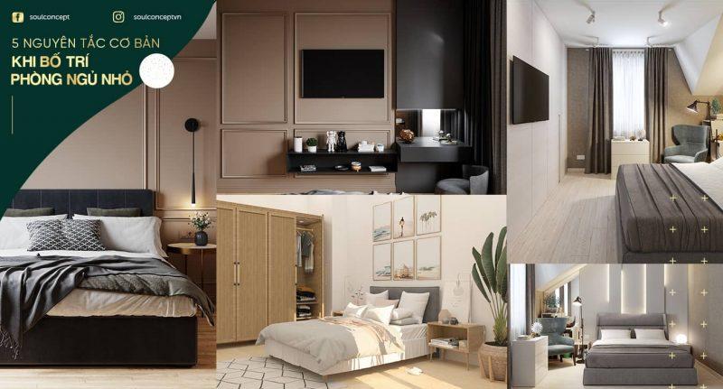 Cách bố trí phòng ngủ diện tích nhỏ hợp lý – 5 nguyên tắc cơ bản