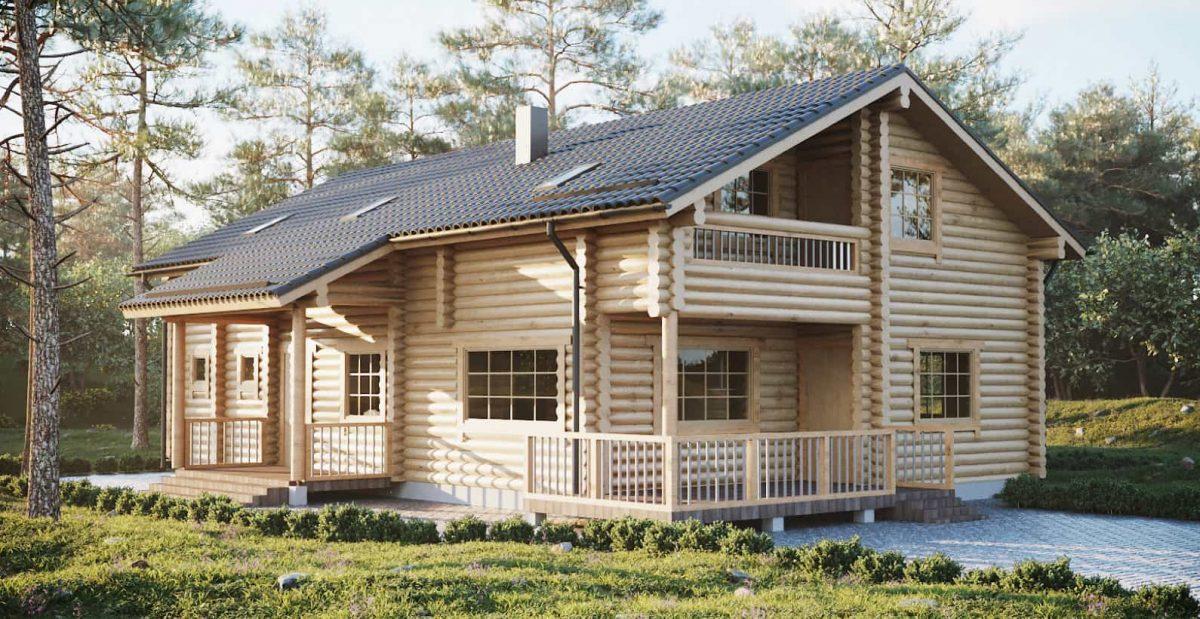 Mẫu nhà gỗ cấp 4 có gác lửng hiện đại, tiện nghi với hình khối đẹp mắt