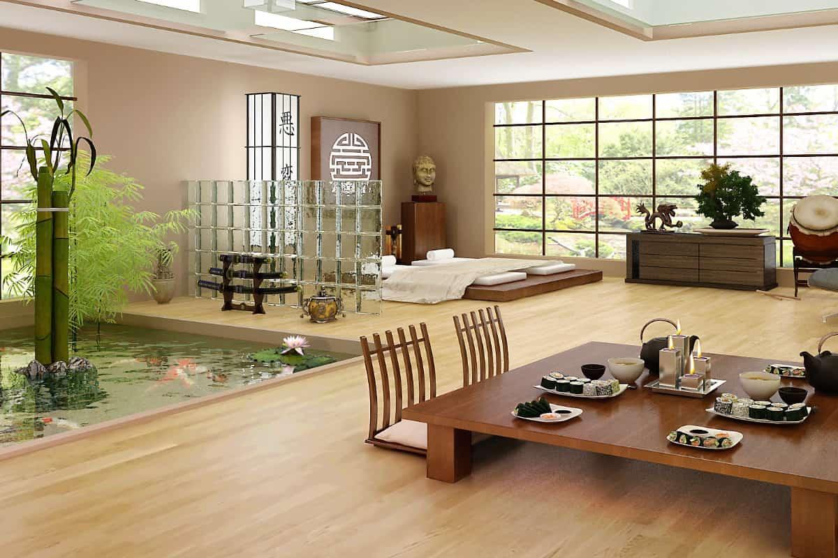 Nhà gỗ được thiết kế theo phong cách cổ xưa