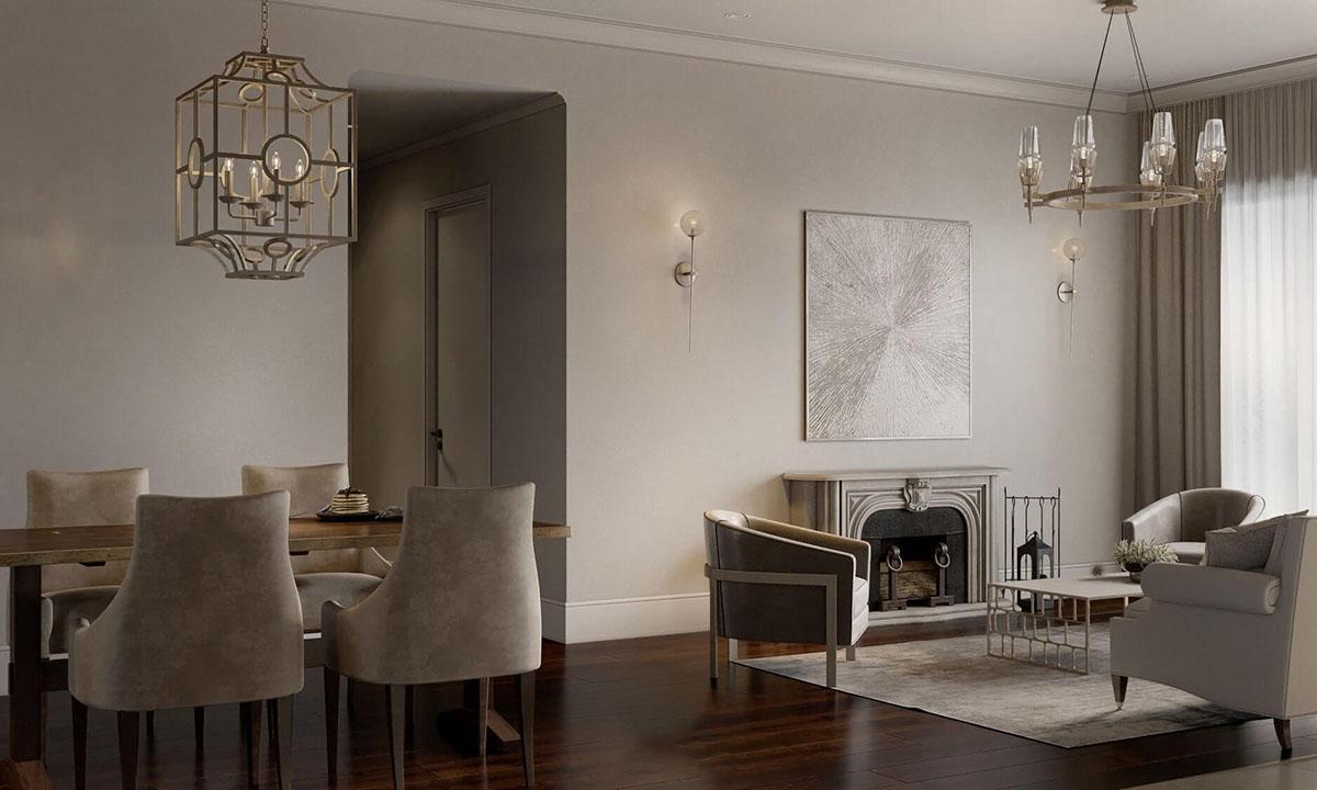 Thiết kế chung cư 90m2 theo phong cách Châu Âu