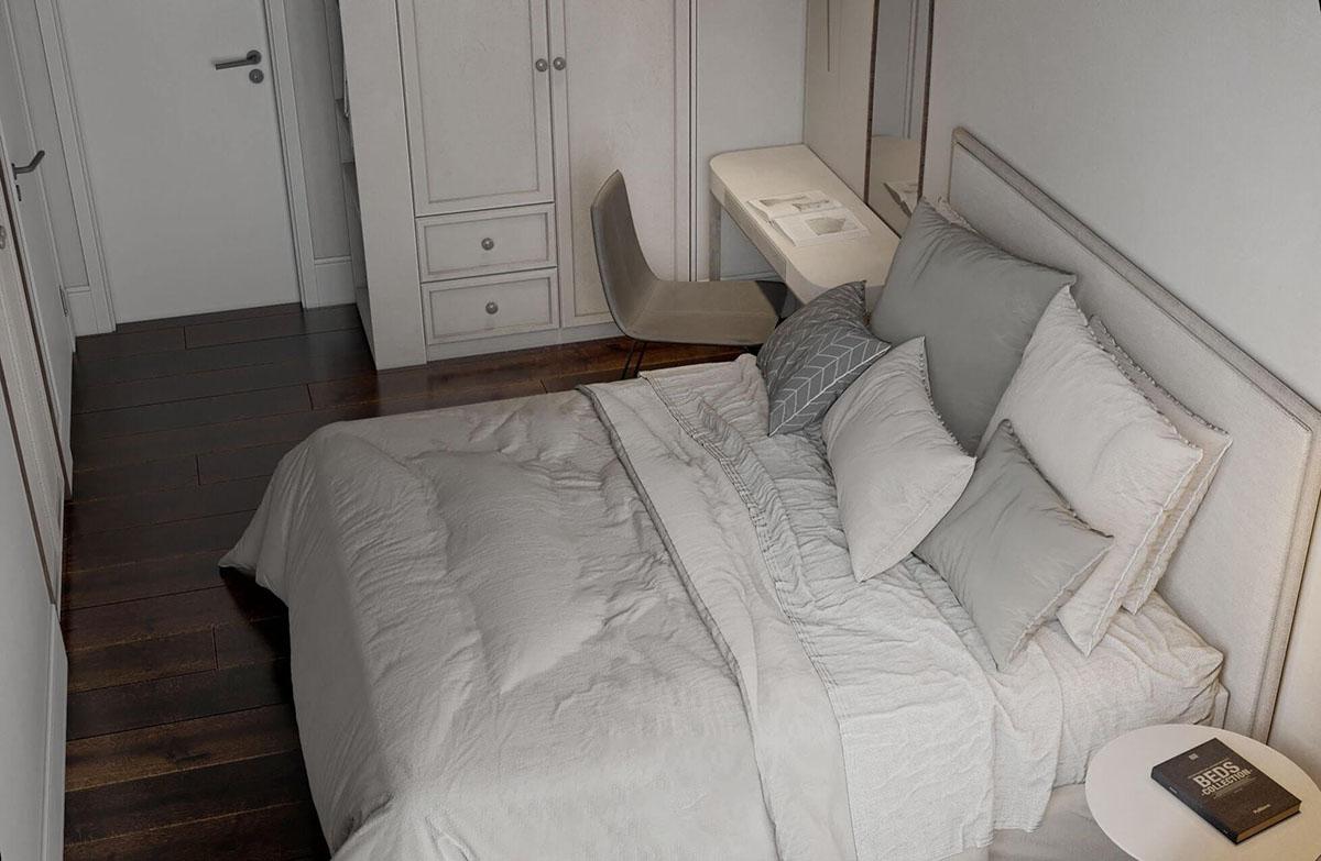 Căn phòng đầy đủ ảnh sáng nhờ thiết kế rèm cửa