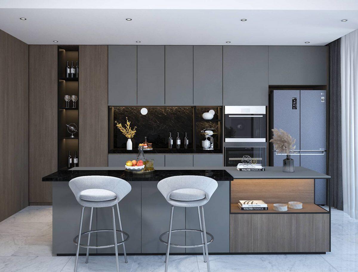 Phong cách hiện đại luôn có sự tối giản về màu sắc và nội thất