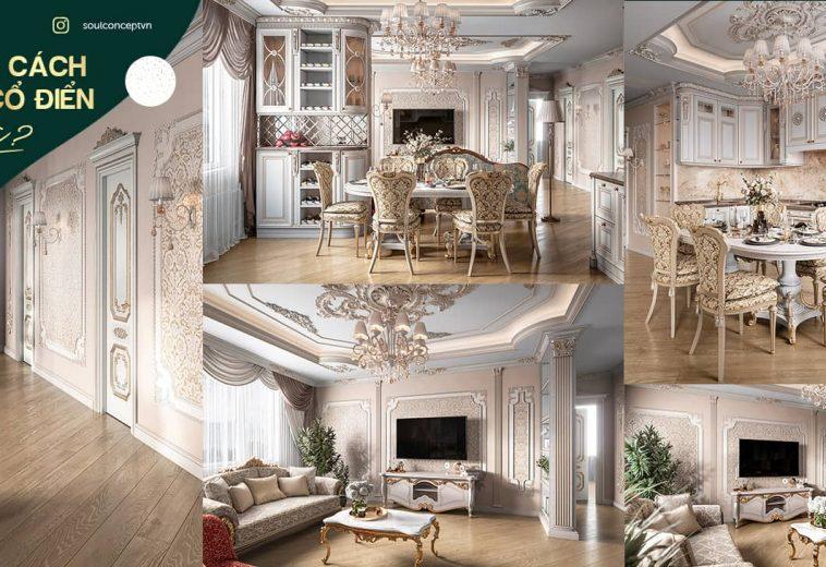 Phong cách thiết kế nội thất cổ điển là gì? Đặc trưng cơ bản