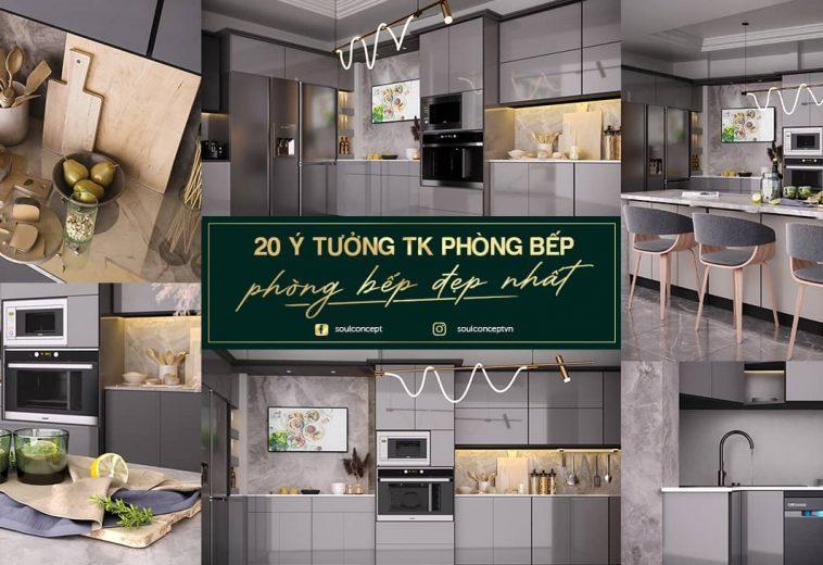 Thiết kế thi công nội thất nhà bếp đẹp hiện đại nhất 2021