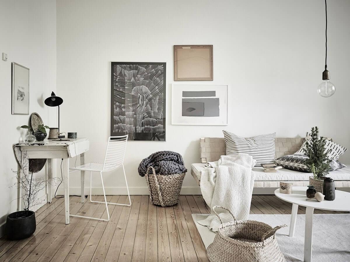 Các họa tiết đơn giản của nội thất Scandinavian