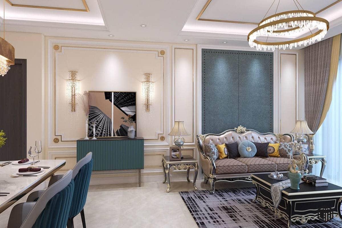 Thiết kế nội thất châu Âu hiện đại