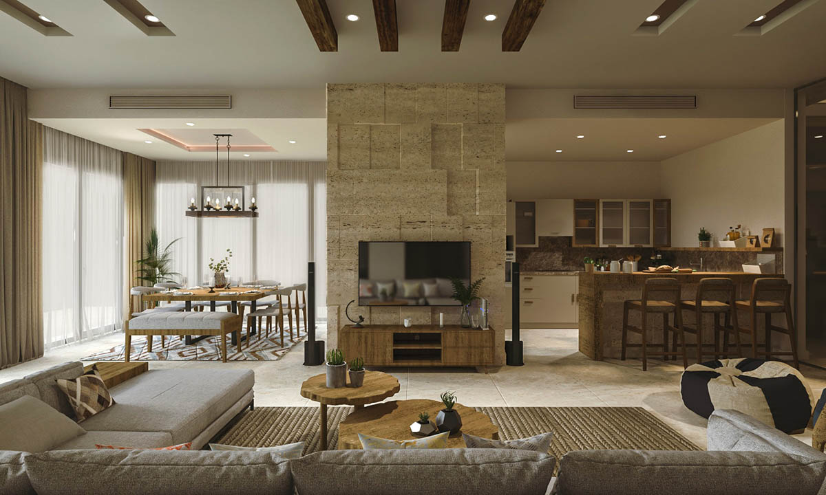 Thiết kế nội thất phong cách Rustic hiện đại