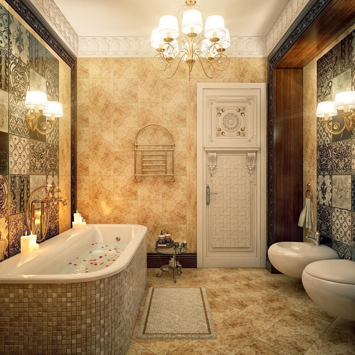 Thiết kế phòng WC theo phong cách châu Âu cổ điển