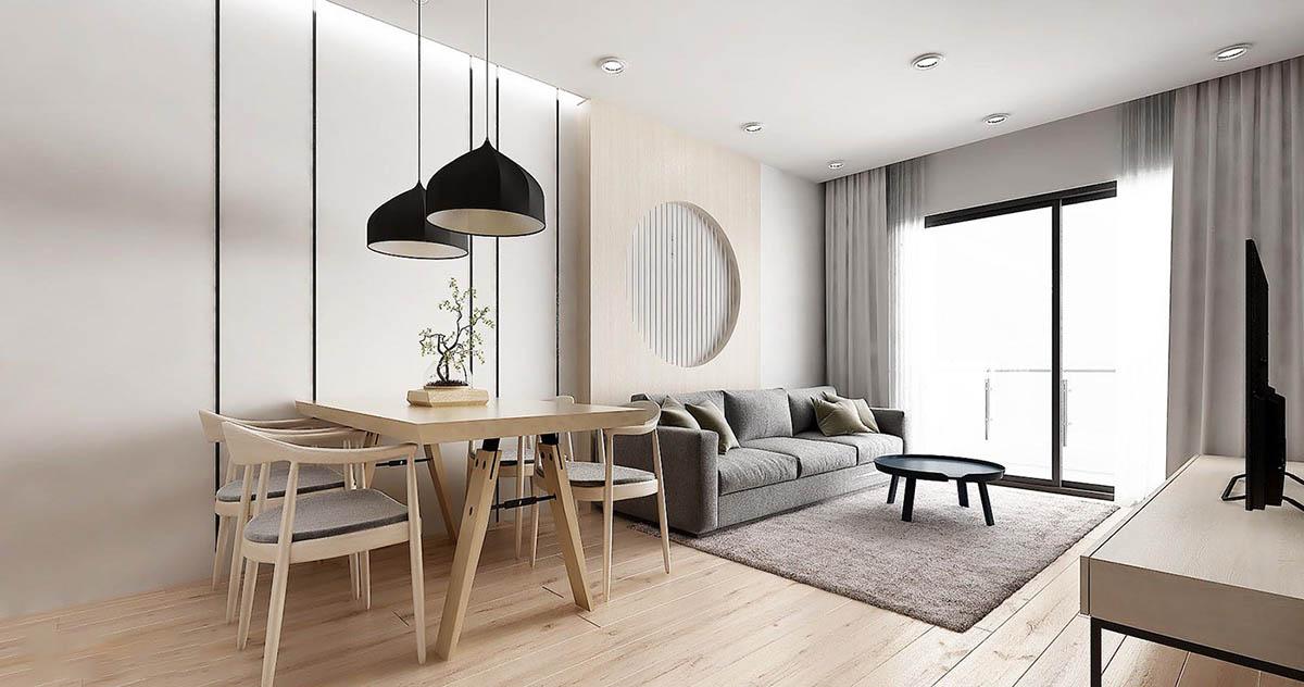 Mẫu thiết kế nội thất chung cư kiểu Nhật