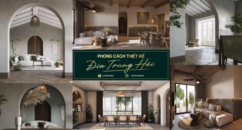 Đặc trưng của phong cách thiết kế nội thất Địa Trung Hải