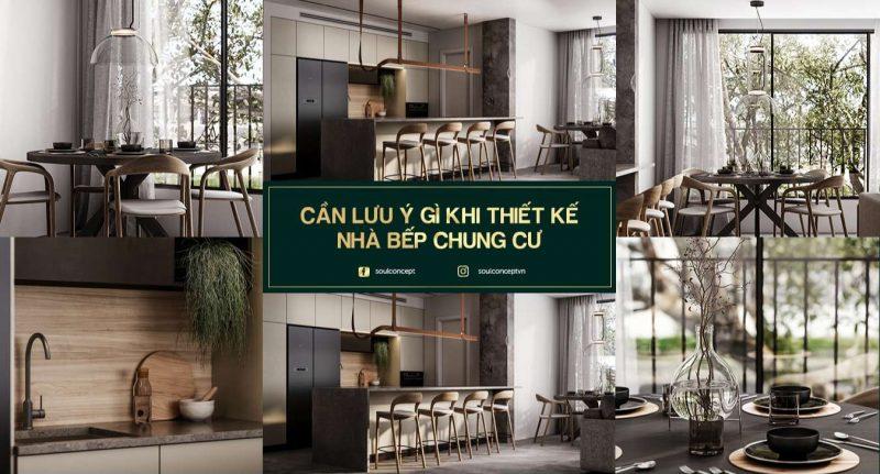 Thiết kế nội thất nhà bếp chung cư – Cần lưu ý những gì