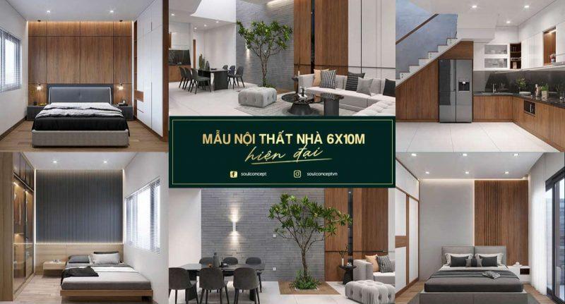 Thiết kế nội thất nhà 6x10m – Mẫu đẹp, hiện đại